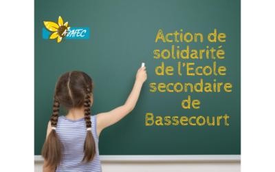 Action de solidarité de l'Ecole secondaire de Bassecourt