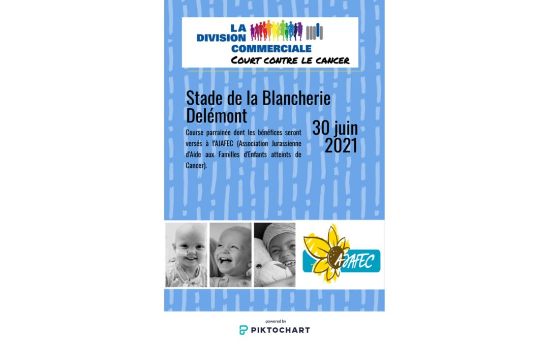 30 juin 2021 – La DivCom de Porrentruy court contre le Cancer