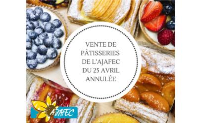 COVID-19 – Vente de pâtisserie annulée